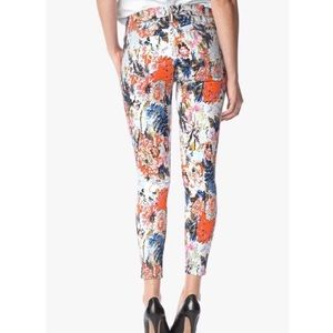 7 For All Mankind Floral Haze Skinny Jeans Size 26